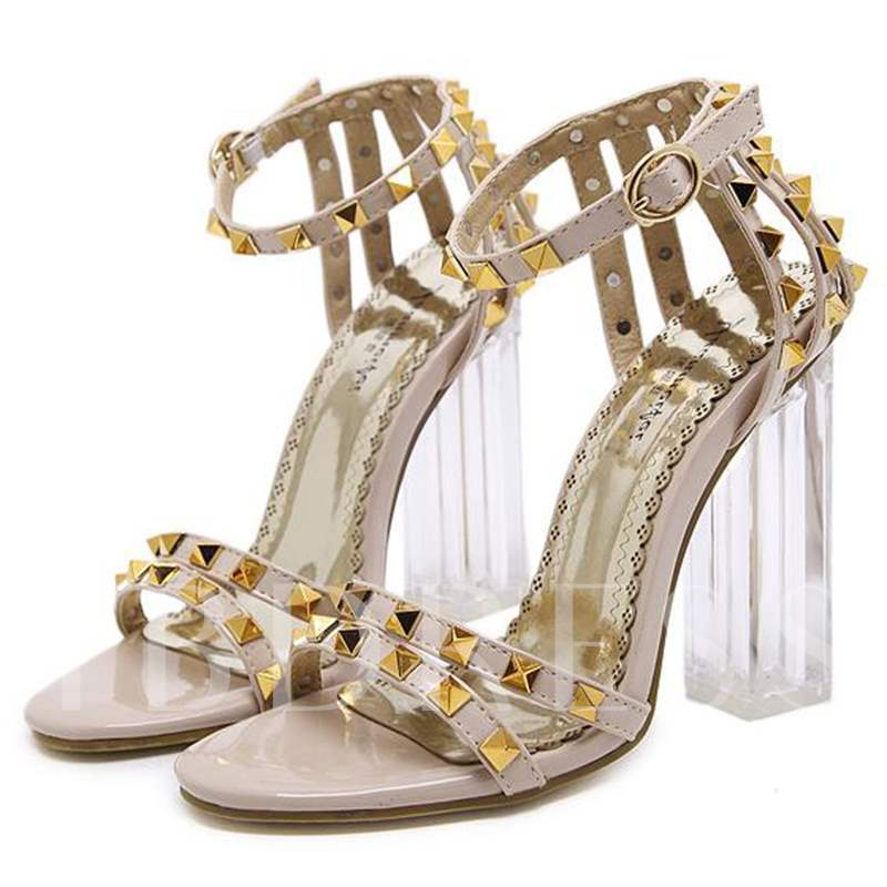Rivets Block Heel Women's Sandals