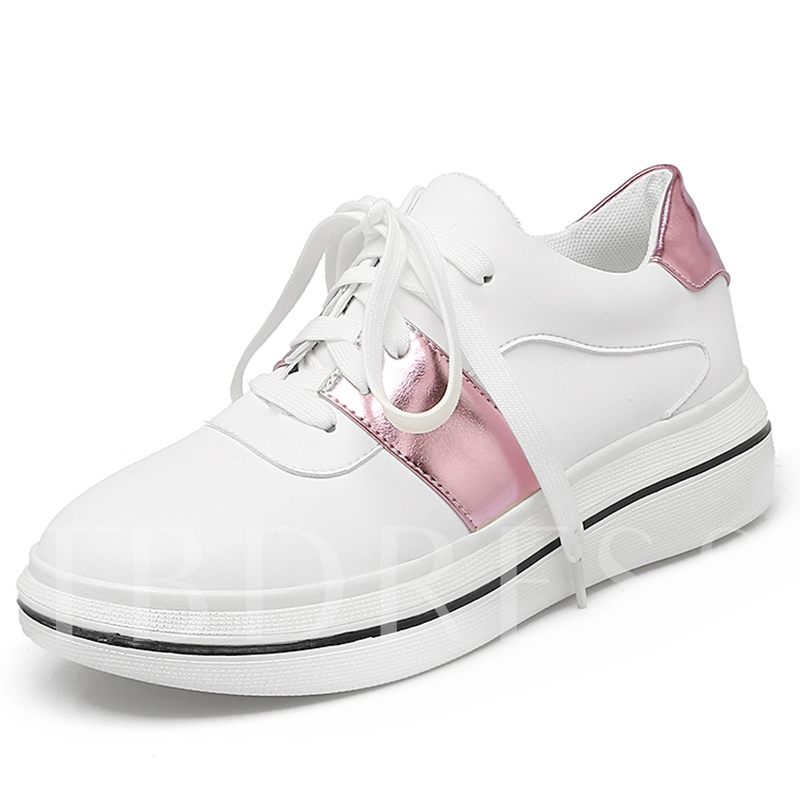Detached Thick Platform Breathable Women's White Sneakers
