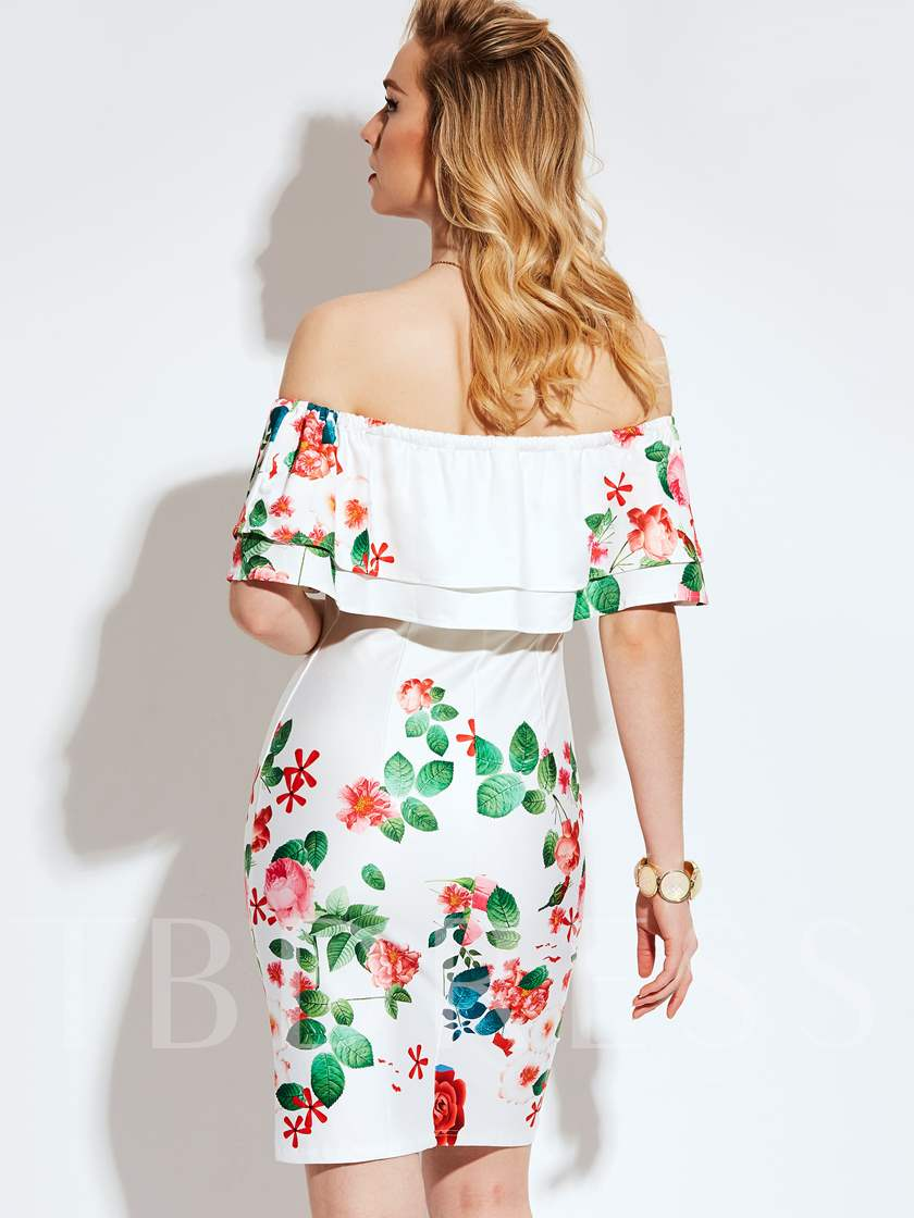 Vacation White Off Shoulder Side Zipper Women's Party Dress