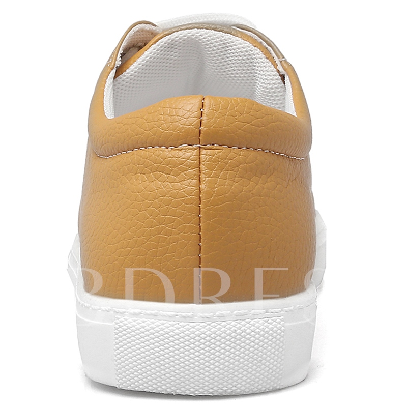 PU Round Women's White Sneakers