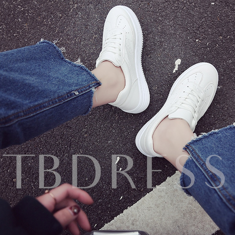 Thick Skater Platform Women's Foundation White Platform Sneakers