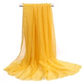 Pure Color Thin Chiffon Oversized Scarf