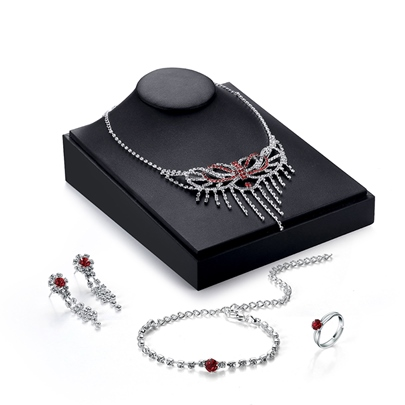 Alloy E-Plating Red Bowknot Design Women's Jewelry Set