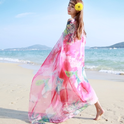 Summer Sunscreen Oversized Chiffon Scarf