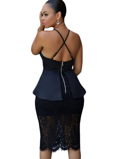 Double-Layered Cross Back Women's Sexy Dress