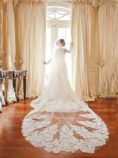 Lace Chapel Wedding Bridal Veil