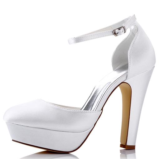 Platform Block Heel Bridal's Dress Pumps