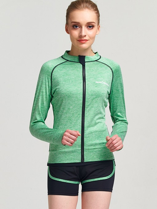 Fitness Front-Zip Women Yoga Suit