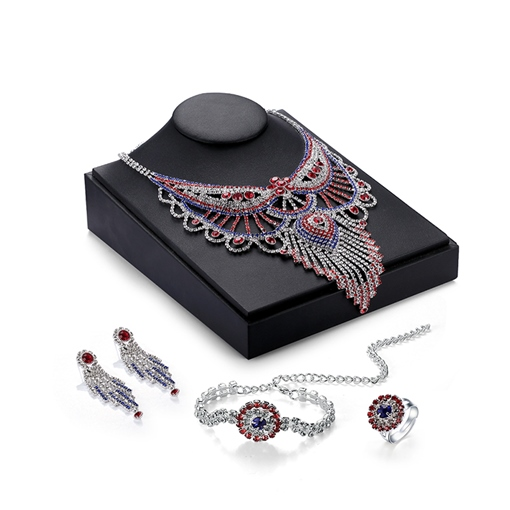 European Style Party Alloy Diamante Jewelry Set