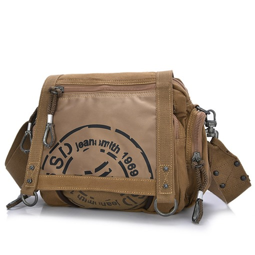 Casual Cotton Canvas Men's Cross Body Bag