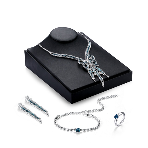 Alloy Diamante Four-Pieces European Style Jewelry Set