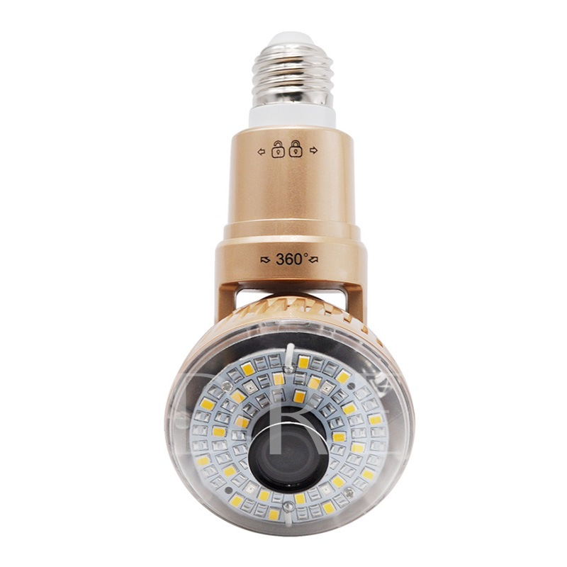 Indoor LED Warm Light Bulb IP WIFI Micro Camera 720P IR-Cut