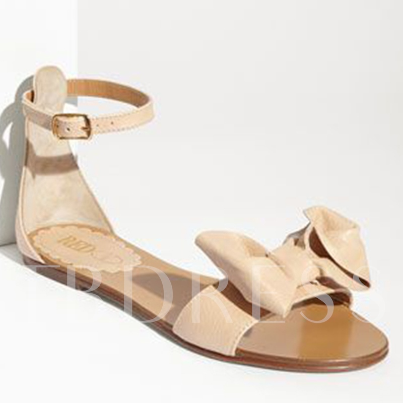 Bowtie Heel Covering Flat Women's Sandals