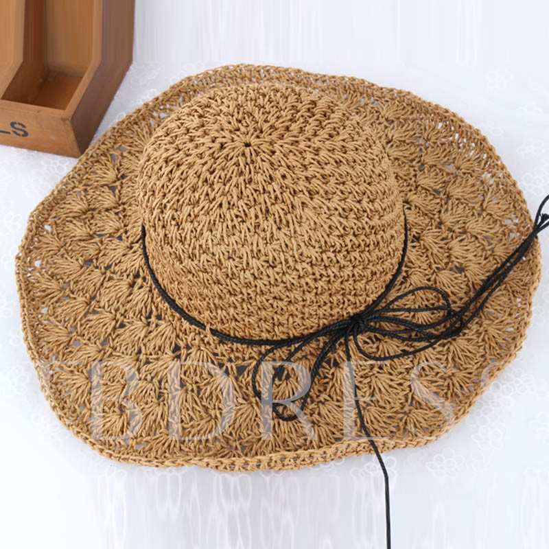 Classic Hollow Dome Crown Straw Hat
