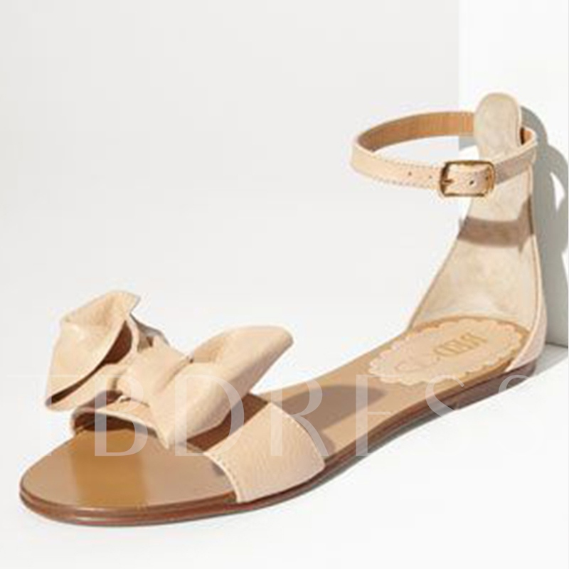 Buy Bowtie Heel Covering Flat Women's Sandals, Summer, 12816976 for $63.99 in TBDress store