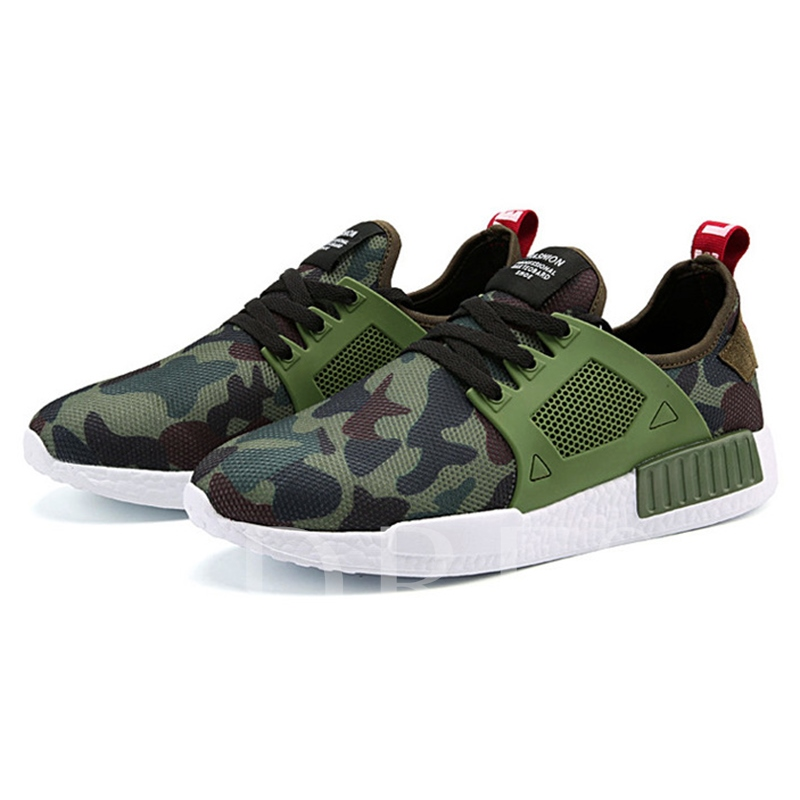 Camouflage Trainer Shoes Running Men's Sneakers
