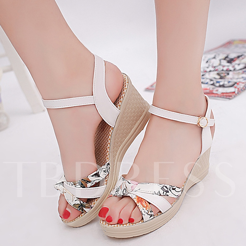 Open Toe Wedge Heel Women's Sandals