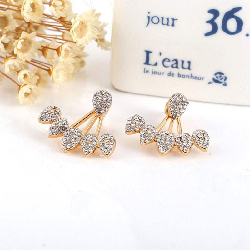 Water Drop Full Rhinestone All-Matched Earrings