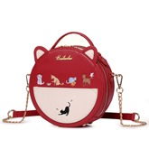 Cute Cat Ear Shape Chain Cross Body Bag