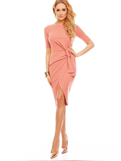 Straight Elegant Zipper Plain Women's Sheath Dress