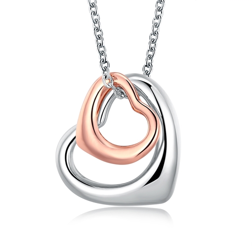 Hollow Sweet Heart-Shaped Pendant Romantic Necklace
