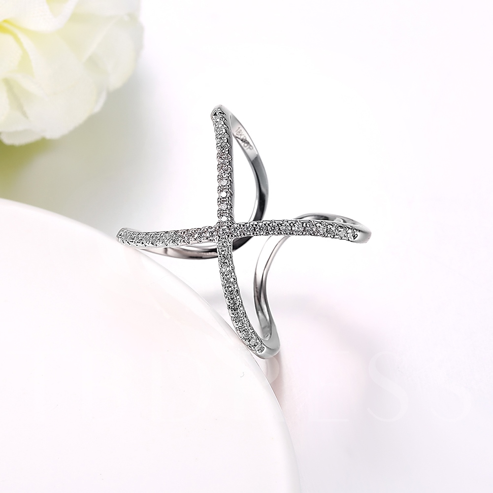 Rhinestone Butterfly Shaped Women's Opening Ring