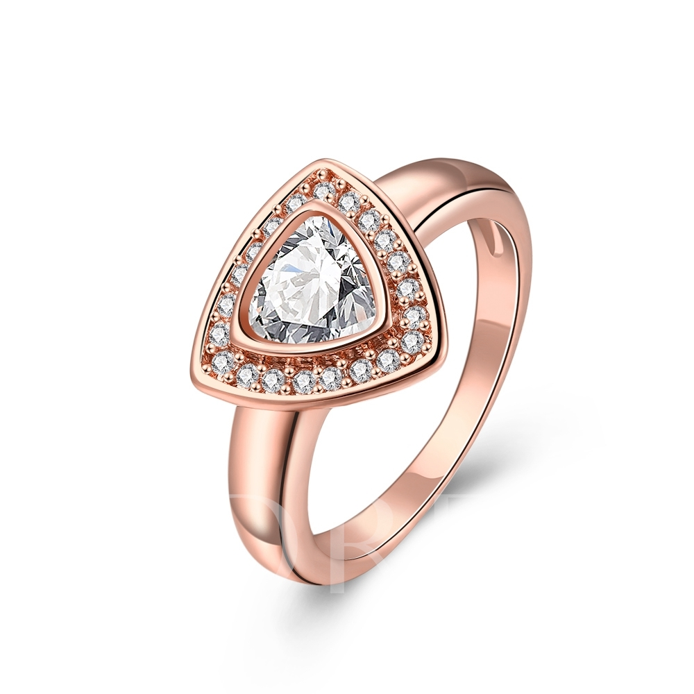 Crossed Wires Design E-Plating Ring