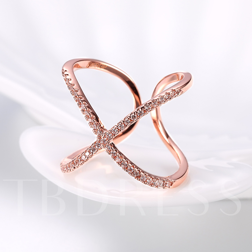 Rose Gold Butterfly Shaped Opening Ring for Women