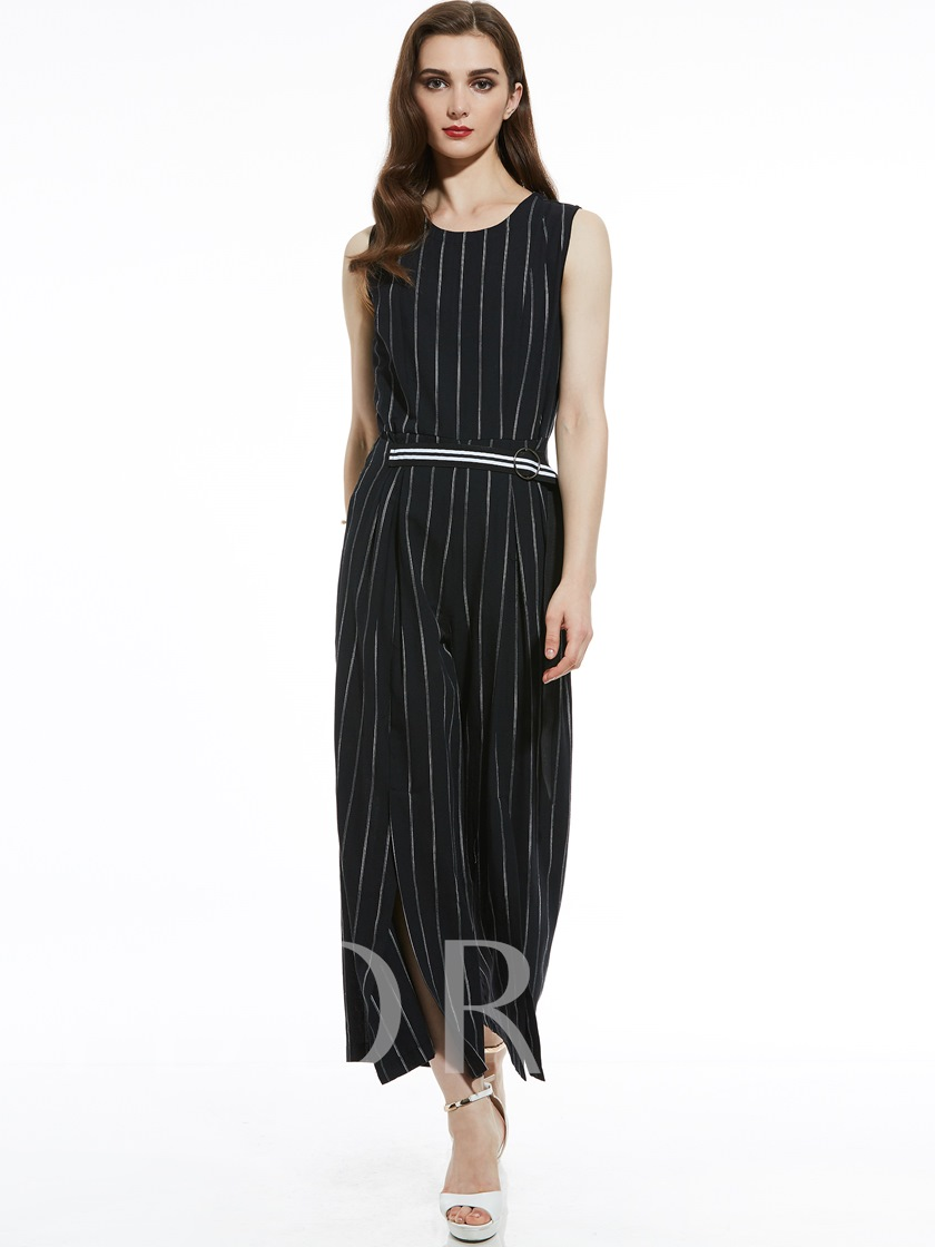 38a1b57895a9 Slim Stripe Full Length Wide Legs Women s Jumpsuit - Tbdress.com