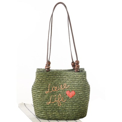 Leisure European Style Wheat Woven Straw Bag