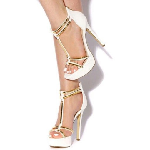 Sequins Platform Stiletto Heel Sandals