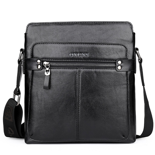 Vertical Type Artifical Leather Men's Cross Body Bag
