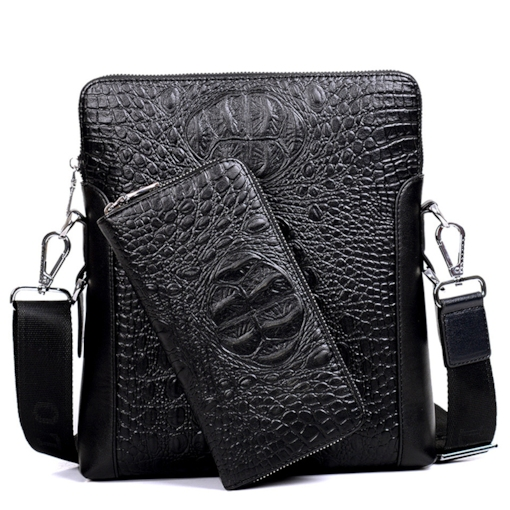 High-grade Crocodile Grain Men's Business Bag