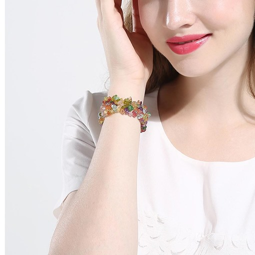 Colorful Rhinestone Design Charming Bracelet