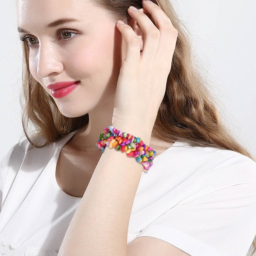 Colorful Stone Design Multilayer Bracelet