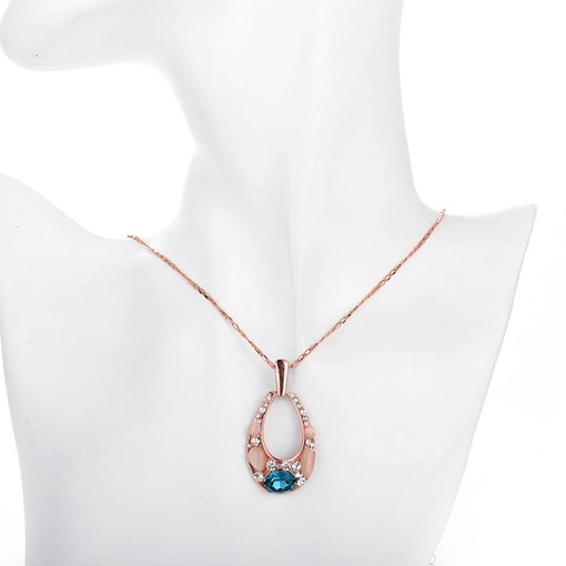Opal Inlaid Water Droplets Pendant Necklace