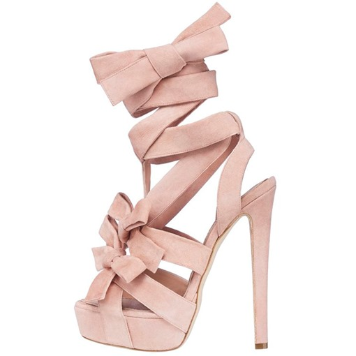 Cross Strap Platform Stiletto Heel Sandals