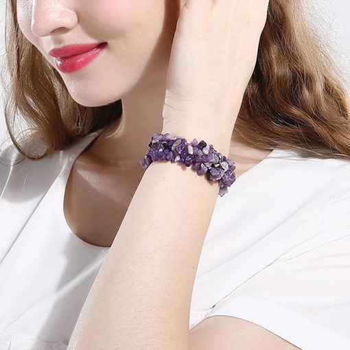 Graceful Ultra Violet Stones Design Bracelet