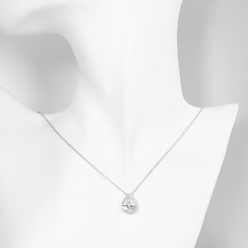 Classic Water Drop Shaped Gemstones Pendant Necklace