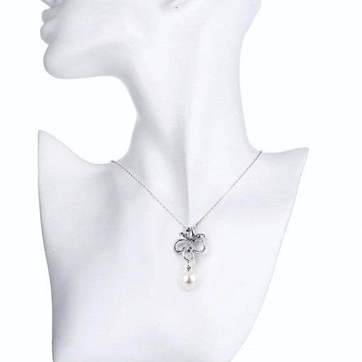 Alloy E-Plating Butterfly Design with Pearl Necklace