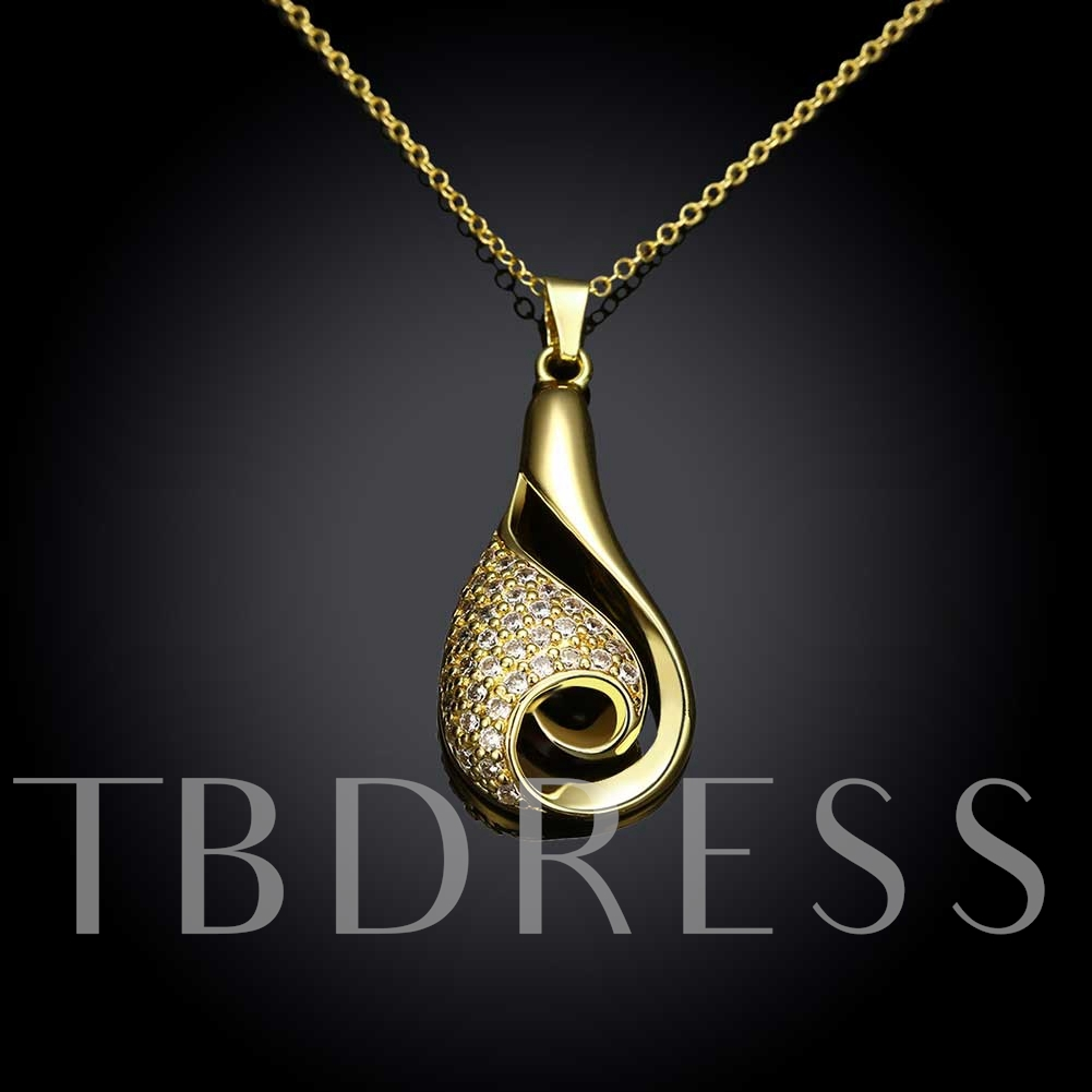 Creative Gold Diamante Aquarius Pendant Necklace