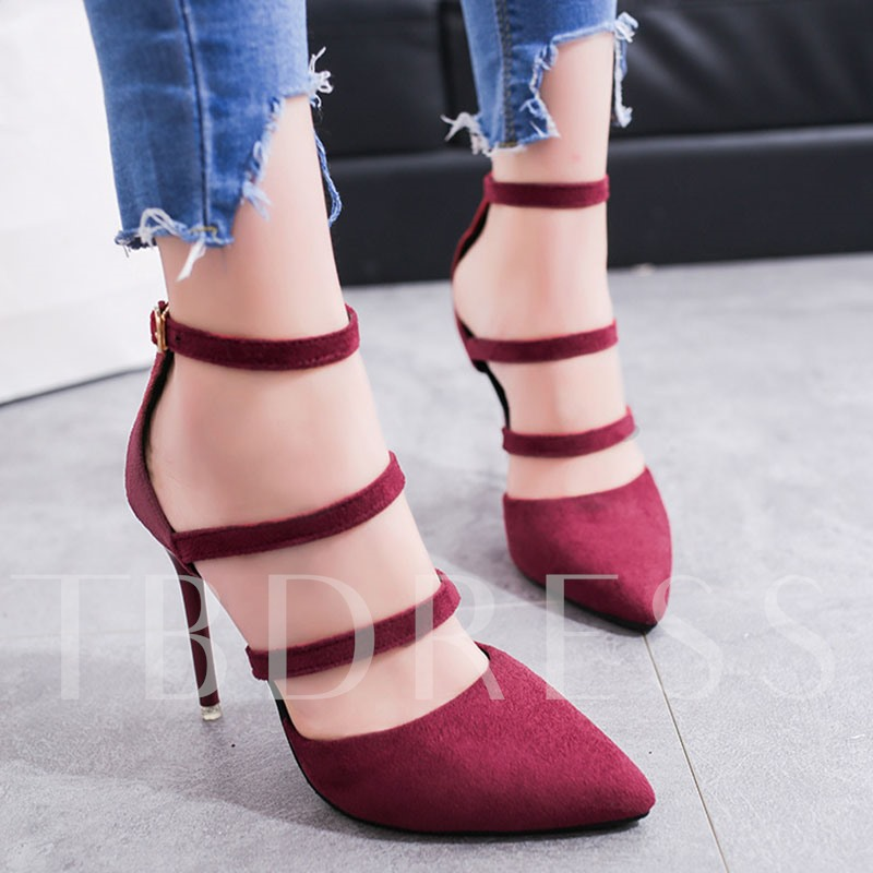 Two Color Pointed Stiletto Heel Women's Pumps