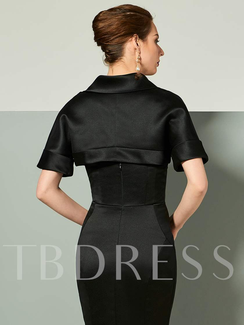 Mermaid Strapless Bowknot Short Sleeves Evening Dress With Jacket