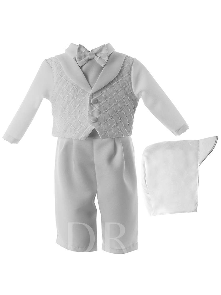 Baby Boy's Christening Baptism 3 Pieces with Headpiece