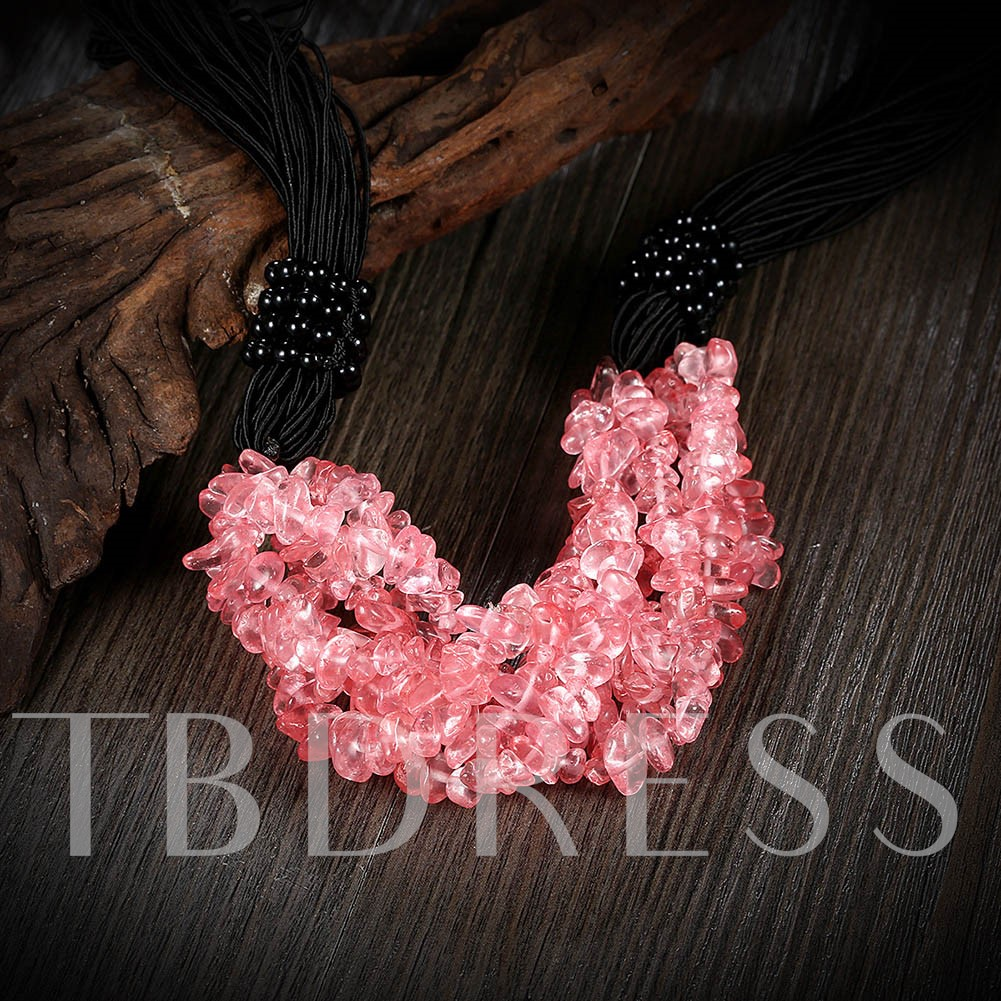 Charming Pink Stone Necklace for Women