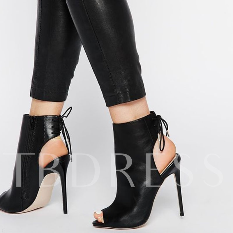 Buy Peep Toe Cross Strap Black Heel Sandals, Spring,Summer, 12832750 for $54.99 in TBDress store