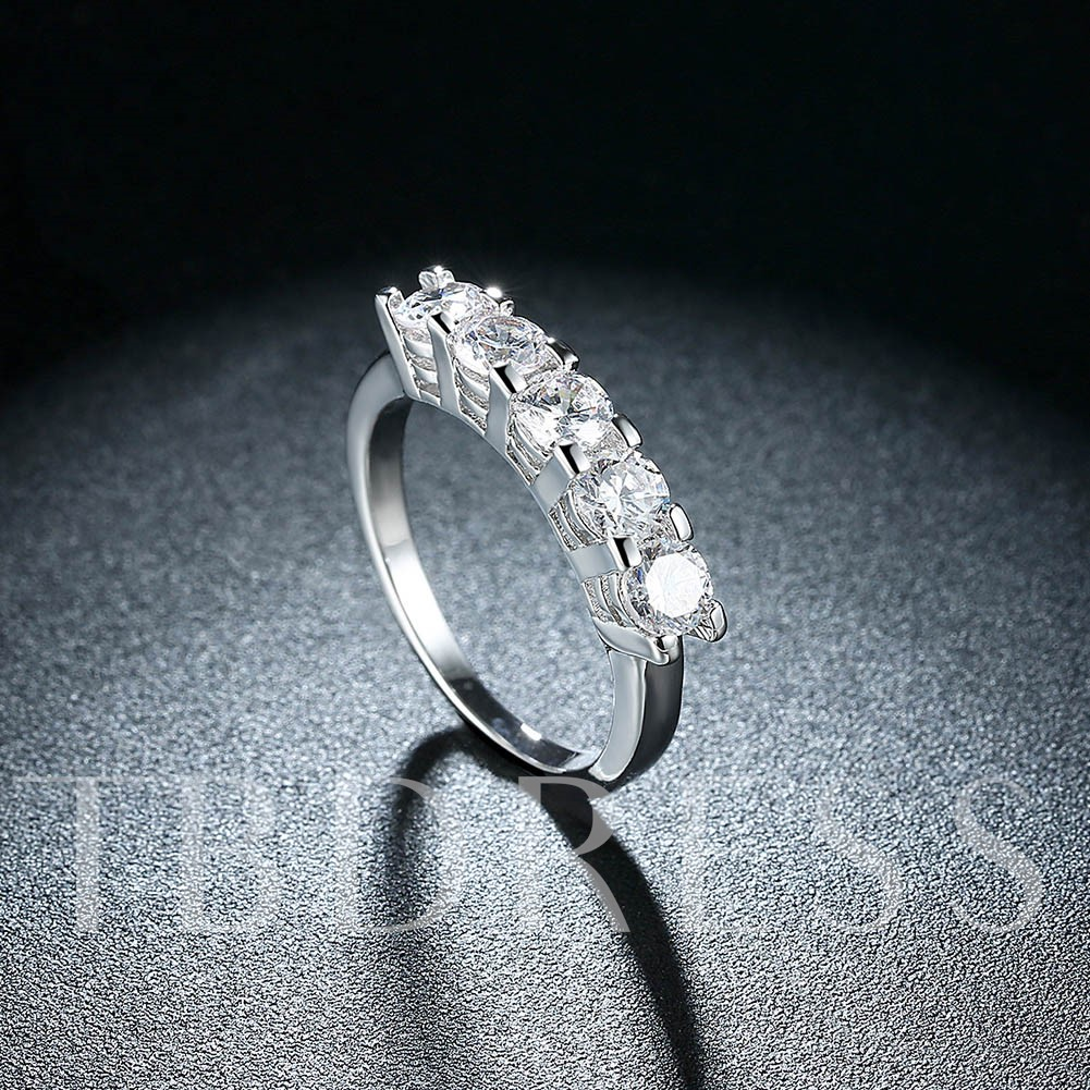 Round Cut Zircon Charming Promise Ring