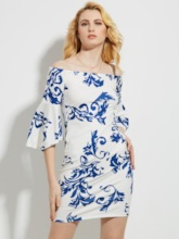 Bell Sleeve Off Shoulder Vacation Women's Party Dress