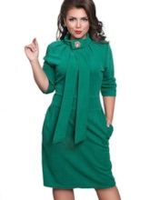 Plus Size Multi-colored Half Sleeve Women's Bodycon Dress