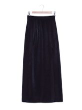 High-Waist Split Plain Women's Skirt